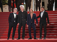 Director Jim Jarmusch, Iggy Pop and Festival director Thierry Fremaux at the gala screening for the film Gimme Danger at the 69th Cannes Film Festival, Thursday 19th May 2016, Cannes, France. Photography: Doreen Kennedy