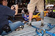 Europa, Deutschland, Nordrhein-Westfalen, Koeln, Start der ADAC Rallye Deutschland am K&ouml;lner Dom, Praesentation der Teams und der Fahrer, Zuschauer.<br /> <br /> Europe, Germany, North Rhine-Westphalia, Cologne, start of the ADAC Rallye Germany, driver's and team's presentation at the cathedral, spectators.