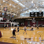 December 16, 2016 - New York, NY : The Fordham University Women's Basketball Team practices in Rose Hill Gymnasium on Friday. CREDIT: Karsten Moran for The New York Times