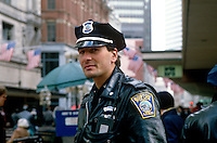 Boston policeman, Boston, Massachusetts, USA, 198805505BP1..Copyright Image from Victor Patterson, 54 Dorchester Park, Belfast, UK, BT9 6RJ..Tel: +44 28 9066 1296.Mob: +44 7802 353836.Voicemail +44 20 8816 7153.Skype: victorpattersonbelfast.Email: victorpatterson@me.com.Email: victorpatterson@ireland.com (back-up)..IMPORTANT: If you wish to use this image or any other of my images please go to www.victorpatterson.com and click on the Terms & Conditions. Then contact me by email or phone with the reference number(s) of the image(s) concerned.