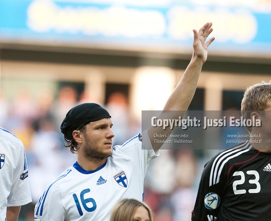 Perparim Hetemaj. Suomi - Espanja. Alle 21-vuotiaiden EM-turnaus, Gamla Ullevi, Göteborg, Ruotsi 22.6.2009. Photo: Jussi Eskola