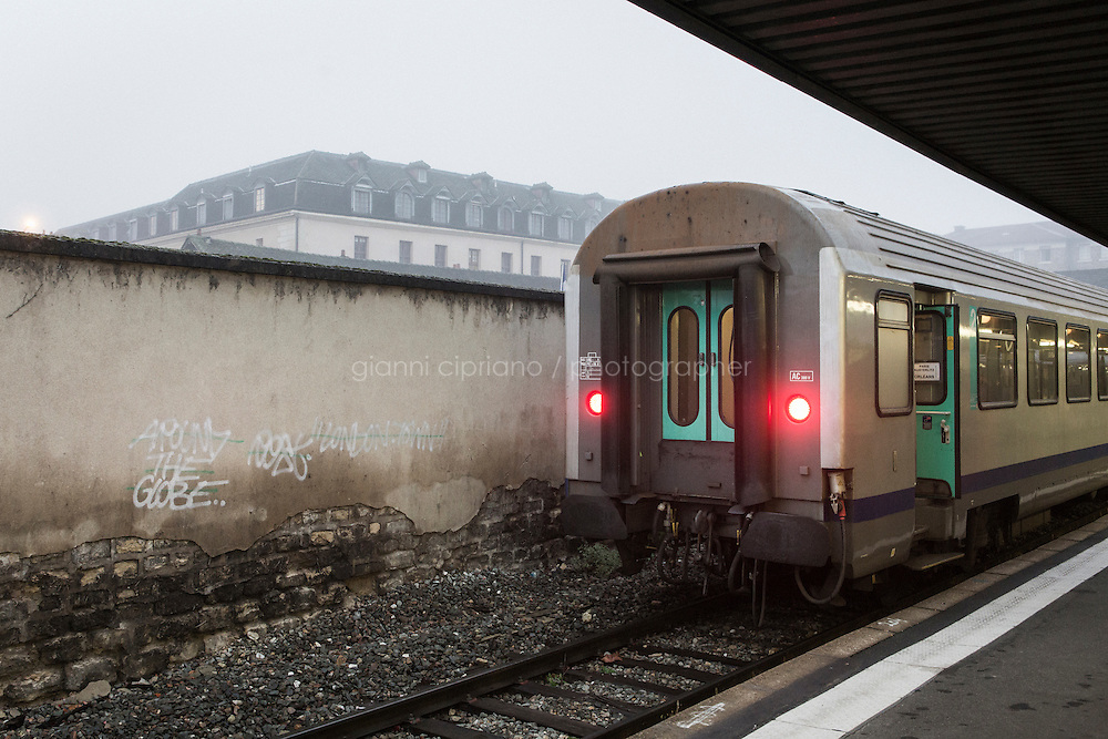 PARIS, FRANCE - 19 NOVEMBER 2014: Gare d'Austerlitz in Paris, France, on November 19th 2014.