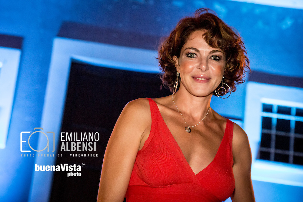 Maratea, Basilicata, Italia, 22/08/2014<br /> L'attrice romana Claudia Gerini alla Settimana del Cinema di Maratea<br /> <br /> Maratea, Basilicata, Italy, 22/08/2014<br /> The actress Claudia Gerini in Maratea for the Week of Cinema 2014