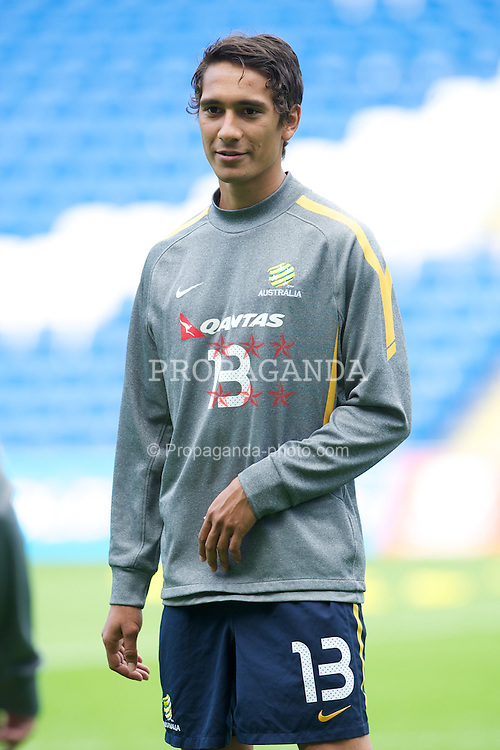 CARDIFF, WALES - Tuesday, August 9, 2011: Australia's Michael Zullo during a training session at the Cardiff City Satdium ahead of the International Friendly match against Wales. (Photo by David Rawcliffe/Propaganda)