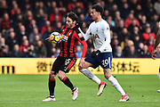 Adam Smith (15) of AFC Bournemouth battles for possession with Dele Alli (20) of Tottenham Hotspur during the Premier League match between Bournemouth and Tottenham Hotspur at the Vitality Stadium, Bournemouth, England on 11 March 2018. Picture by Graham Hunt.