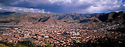 PERU, HIGHLANDS, CUZCO ancient capital of Incas; skyline