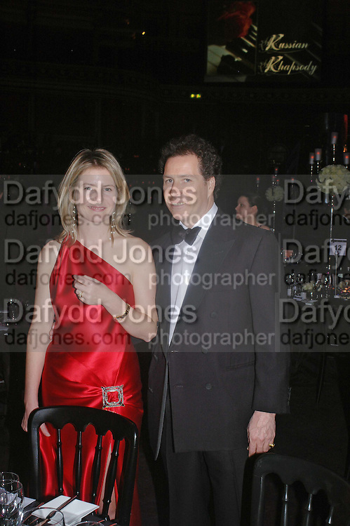David  AND Serena Linley. Vivid Collection at Russian Rhapsody, Royal Albert Hall. 11 April 2005. ONE TIME USE ONLY - DO NOT ARCHIVE  © Copyright Photograph by Dafydd Jones 66 Stockwell Park Rd. London SW9 0DA Tel 020 7733 0108 www.dafjones.com