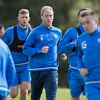 St Johnstone Training….26.08.16<br />Steven Anderson pictured during training this morning at McDiarmid Park ahead of tomorrow's trip to Inverness<br />Picture by Graeme Hart.<br />Copyright Perthshire Picture Agency<br />Tel: 01738 623350  Mobile: 07990 594431