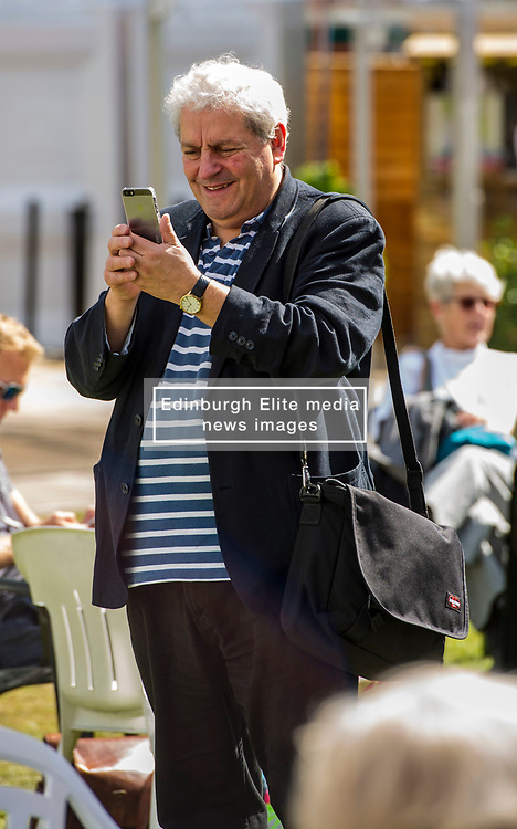Pictured: <br /> Book fanatics headed to Charlotte Square in Edinburgh which is the hub of the international Book Festival to meet the authors and also to meet up with fellow fans of the printed word.<br /> <br /> <br /> Ger Harley | EEm 17 August 2017
