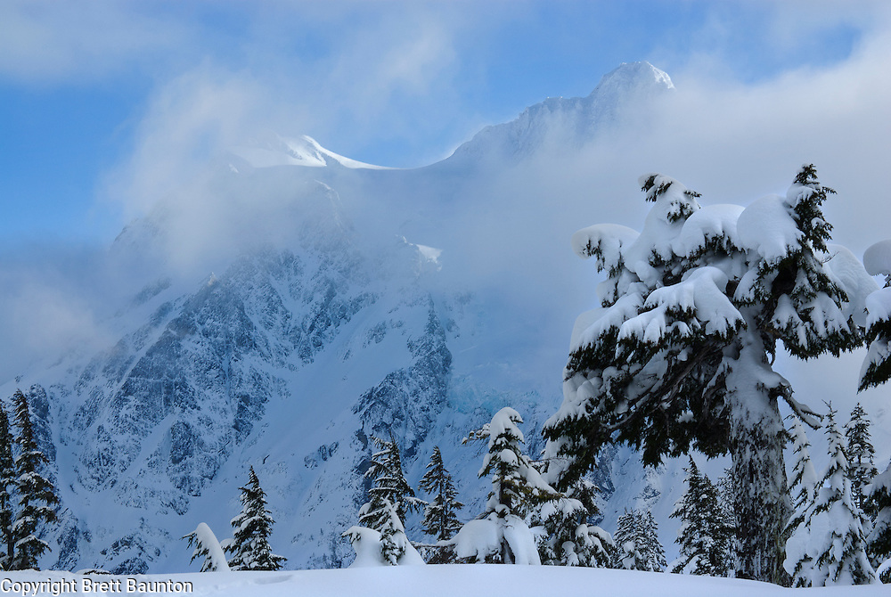 Mt. Shuksan, North Cascades National Park. Mt. Baker Area, Winter Snow, Fresh Snow