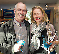 22/07/2015 repro free Harry Walsh and Emer O Connell Oughterard at the Ulster Bank sponsored evening at The Galway International Arts Festival's production of Frank McGuinnesses'  The Match Box, starring Cathy Belton At the Town Hall Theatre. Photo:Andrew Downes. xposure