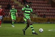 Forest Green Rovers Isaiah Osbourne(34) on the ball during the EFL Sky Bet League 2 match between Crewe Alexandra and Forest Green Rovers at Alexandra Stadium, Crewe, England on 20 March 2018. Picture by Shane Healey.