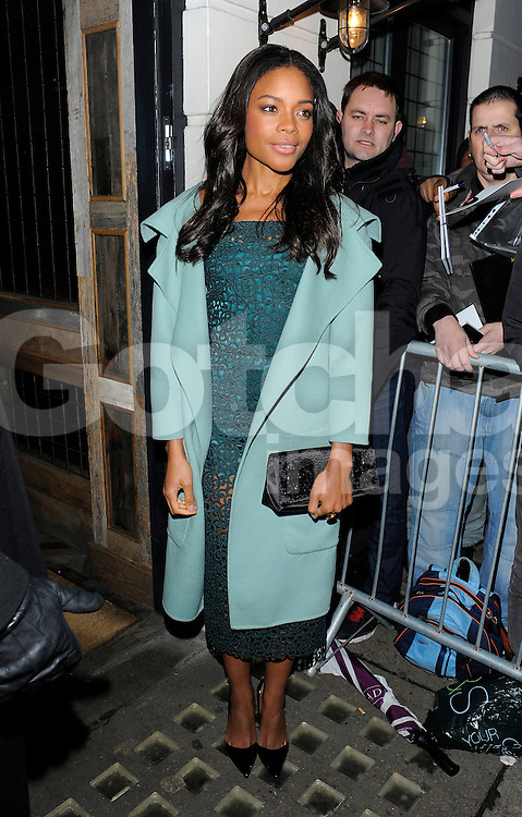Naomie Harris attends Harvey Weinstein's pre-BAFTA dinner at Little House restaurant in London, UK. 14/02/2014<br />