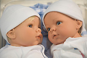 face of two caucasian baby dolls