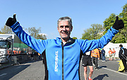 Martin Fiz  (ESP), age 55, poses after placing 37th in the 43rd Paris Marathon in IAAF Gold Label road race in Paris, Sunday, April 14, 2019. (Jiro Mochizuki/Image of Sport)