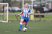 Brighton's Jay Blackie on the ball during the FA Women's Premier League match between Forest Green Rovers Ladies and Brighton Ladies at the Hartpury College, United Kingdom on 24 January 2016. Photo by Shane Healey.