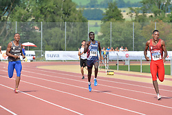 06/08/2017; Colorado Mina, Anderson Alexander, T20, ECU, Kouakou, Charles-Antoine, FRA, Carcelen, Damian at 2017 World Para Athletics Junior Championships, Nottwil, Switzerland