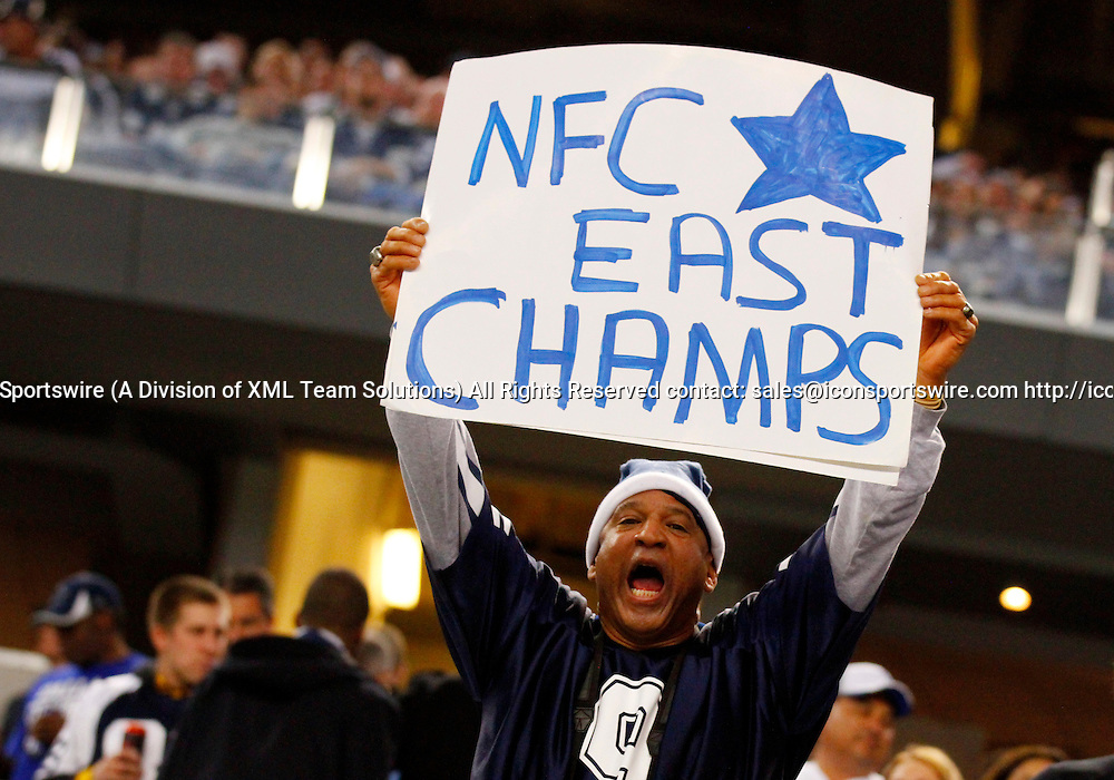 21 DEC 2014: A Dallas Cowboys fan during an NFL regular season game between the Indianapolis Colts and Dallas Cowboys at AT&T Stadium in Arlington, TX. Cowboys won 42-7.