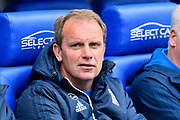 Ipswich Town manager Bryan Klug during the EFL Sky Bet Championship match between Reading and Ipswich Town at the Madejski Stadium, Reading, England on 28 April 2018. Picture by Graham Hunt.