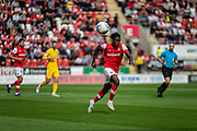 Olayinka Fredrick Oladotun Ladapo of Rotherham United during the EFL Sky Bet League 1 match between Rotherham United and Bolton Wanderers at the AESSEAL New York Stadium, Rotherham, England on 14 September 2019.
