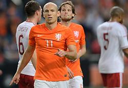 04-06-2014 NED: Vriendschappelijk Nederland - Wales, Amsterdam<br /> Nederland wint met 2-0 van Wales / Arjen Robben scoort de 1-0 en Daley Blind