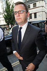 JUL 04 2014 Andy Coulson arrives at Old Bailey for sentencing