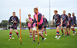 Bristol United players warm-up - Mandatory by-line: Paul Knight/JMP - 22/09/2017 - RUGBY - Clifton RFC - Bristol, England - Bristol United v London Irish 'A' - Aviva A League