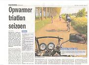 Triathlonfoto publiziert in Holländische Zeitung