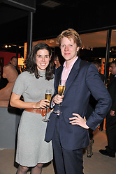 ROSANNA CATOR and FERGUS HERRIES at a preview evening of the annual London LAPADA (The Association of Art & Antiques Dealers) antiques Fair held in Berkeley Square, London on 20th September 2011.