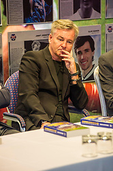 Pictured: Charlie Nicholas<br /> Veteran commentator Archie MacPherson was at Hampden Park today as he announced the publication of his latest book:  Adventures in the Golden Age - Scotland in the World Cup Finals 1974-1998, due to be published on 26 April  MacPherson was joined by former and  current Scotland manager Craig Brown and Alex McLeish respectivly  along with ex-Celtic, Arsenal and Scotland player Charlie Nicholas who was Archie's co-commentator at the Mexico World Cup. <br /> <br /> Ger Harley | EEm 25 April 2018