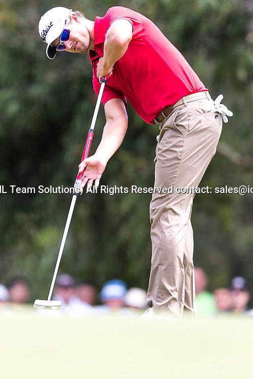 November 22, 2014: Adam Scott putts  during the third round of the Australian Golf Masters at Metropolitan Golf Club, Melbourne Victoria Australia