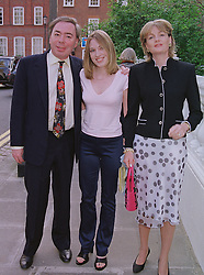 LORD & LADY LLOYD-WEBBER and his daughter IMOGEN LLOYD WEBBER, at a party in London on 30th June 1999.MTY 106