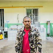 Adolfo Tomaz, 31 years old. In the US since 1997 as illegal. He has been arrested and deported many times since then. The day before this picture, He was deported for the last time. He now intends to stay and get a new life in Mexico. Here photographed at Casa del Migrante, in the outskirts of Tijuana that welcomes refugees and deported mexicans coming here every day from all over the US and Central America