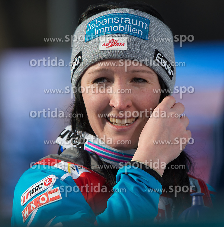 07.02.2016, Energie AG Skisprung Arena, Hinzenbach, AUT, FIS Weltcup Ski Sprung, Hinzenbach, Damen, Bewerb, im Bild Jacqueline Seifriedsberger (AUT) // during Ladies Skijumping Competition of FIS Skijumping World Cup at the Energie AG Skisprung Arena, Hinzenbach, Austria on 2016/02/07. EXPA Pictures © 2016, PhotoCredit: EXPA/ Reinhard Eisenbauer