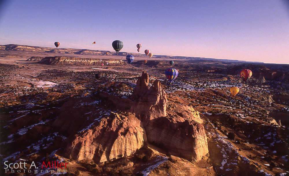 The Gallup Balloon Rally on December 15, 1992 in Gallup, NM.<br /> <br /> &copy;1992 Scott A. Miller