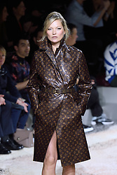 Kate Moss walks the runway at the Louis Vuitton Homme show during Paris Men's Fashion Week Fall/Winter 2018-2019 on January 18, 2018 in Paris, France. Photo by Aurore Marechal/ABACAPRESS.COM    622177_018 Paris France