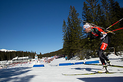 MAKARAINEN Kaisa of Finland competes during Women 12.5 km Mass Start competition of the e.on IBU Biathlon World Cup on Sunday, March 9, 2014 in Pokljuka, Slovenia. Photo by Vid Ponikvar / Sportida