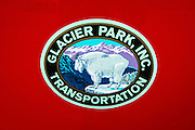 Glacier Park Transportation logo, Glacier National Park, Montana USA