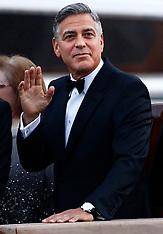 SEP 27 2014 George Clooney wedding