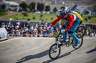 15 Boys #155 (LE CARDINAL Bastien) FRA at the 2018 UCI BMX World Championships in Baku, Azerbaijan.