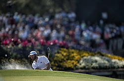 May 11, 2018 - Ponte Vedra Beach, FL, USA - The Players Championship 2018 at TPC Sawgrass..Sergio Garcia out of the bunker on 17 green. (Credit Image: © Bill Frakes via ZUMA Wire)