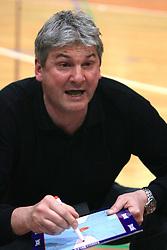 Coach of Kozorog Lasko Ales Pipan at 12th Round of UPC League basketball match between KK Luka Koper and KK Zlatorog Lasko, on May 2, 2009, in Arena Bonifika, Koper, Slovenia. Zlatorog won the match 72:71. (Photo by Vid Ponikvar / Sportida)