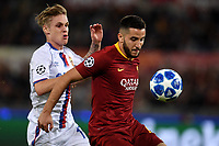 Kostas Manolas of AS Roma and Arnor Sigurdsson of CSKA compete for the ball during the Uefa Champions League 2018/2019 Group G football match between AS Roma and CSKA Moscow at Olimpico stadium Allianz Stadium, Rome, October, 23, 2018 <br />  Foto Andrea Staccioli / Insidefoto