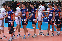 Volleyball match of CEV Indesit Champions League Men 2008/2009 between Trentino Volley (ITA) and ACH Volley Bled (SLO), on November 4, 2008 in Palatrento, Italy. (Photo by Vid Ponikvar / Sportida)