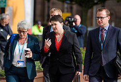© Licensed to London News Pictures. 03/10/2017. Manchester, UK. Scottish conservative leader RUTH DAVIDSON (centre) seen on day three of the Conservative Party Conference. The four day event is expected to focus heavily on Brexit, with the British prime minister hoping to dampen rumours of a leadership challenge. Photo credit: Ben Cawthra/LNP