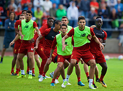 ROTTACH-EGERN, GERMANY - Friday, July 28, 2017: Liverpool's Marko Grujic and Sadio Mane during a training session at FC Rottach-Egern on day three of the preseason training camp in Germany. (Pic by David Rawcliffe/Propaganda)