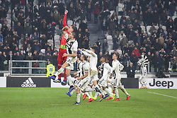 December 7, 2018 - Milan, Piedmont, Italy - Juventus players celebrate the victory after the Serie A football match between Juventus FC and FC Internazionale at Allianz Stadium on December 07, 2018 in Turin, Italy..Juventus won 1-0 over Internazionale. (Credit Image: © Massimiliano Ferraro/NurPhoto via ZUMA Press)