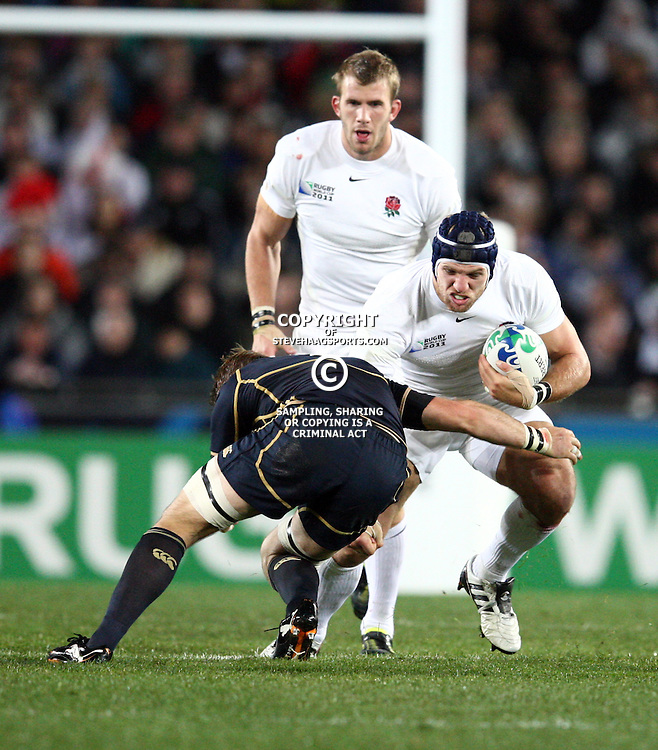 AUCKLAND, NEW ZEALAND - OCTOBER 01, James Haskell during the 2011 IRB Rugby World Cup match between England and Scotland at Eden Park on October 01, 2011 in Auckland, New Zealand<br /> Photo by Steve Haag / Gallo Images