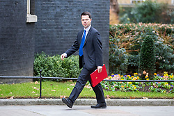 © Licensed to London News Pictures. 15/01/2019. London UK. James Brokenshire arrives for the Cabinet meeting this morning ahead of todays vote on Theresa May's Brexit deal. Photo credit: Andrew McCaren/LNP