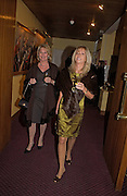 Jan Gowrie -Smith and Charlotte Spry. Reception to support the Hyde Park Appeal for Liberty Drives ( a charity which enables people to travel around Hyde Park in electric buggies) in the presence of Prince Michael of Kent. Officers Mess. Household Cavalry Mounted Regiment. Hyde Park Barracks. 30 November 2004. ONE TIME USE ONLY - DO NOT ARCHIVE  © Copyright Photograph by Dafydd Jones 66 Stockwell Park Rd. London SW9 0DA Tel 020 7733 0108 www.dafjones.com